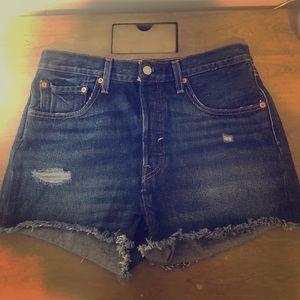 Levi's 501 Mid-Rise Denim Shorts